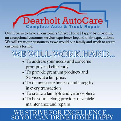 Dearholt commitment to quality auto repair and service