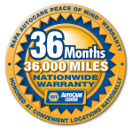 NAPA AutoCare 36 month / 36000 Mile Warranty