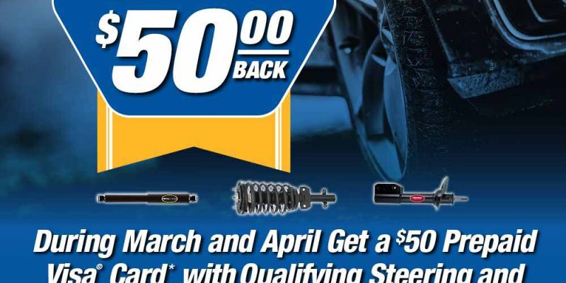 $50 back on steering and suspension parts