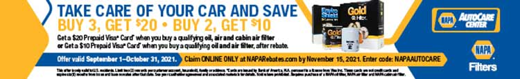 Save on NAPA Filters